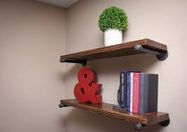 rustic floating shelf for book storage