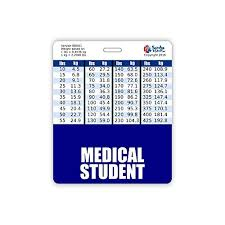 Medical Student Badge Buddy Horizontal W Height Weight