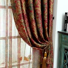 European High Grade Vintage Paris Bay Finished Living Room Curtains Study Bedroom  Curtains With Blackout