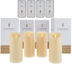 luminara 4 6 flameless candles with 4 remotes and gift bo