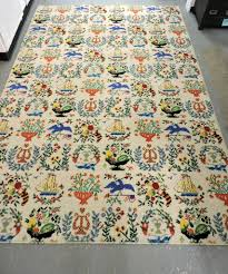 folk art americana rug sold