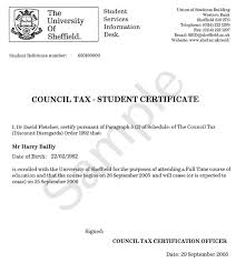 Sample Certification Letters Example Of Certificate Council Tax Ssid The University Of