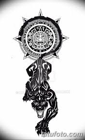 черно белый эскиз тату с черной пантерой 11032019 058 Tattoo