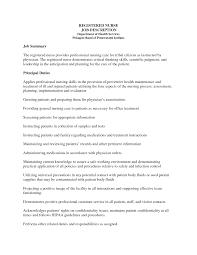Sample Resume For Rn Sample Resume For Nurses With Job Description  Sample Resume For Nursing Job