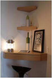 Full Image for Corner Zig Zag Wall Shelf Finish White Furniture Very Small  Spaces Living Corner