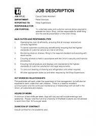Resume Job Description Examples Resume For Study