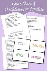 Wipe Off Chore Chart Family Chore Organizational Chart And Checklists Free Like