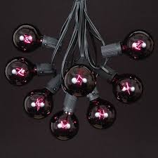 Blacklight String Lights Gorgeous Black Light Satin G32 Globe Outdoor String Light Set On Black Wire