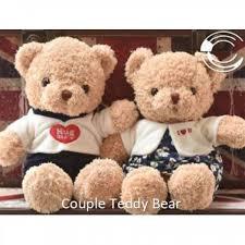 ready stock creative valentine gift lovely couple teddy bear stuffed toys msia