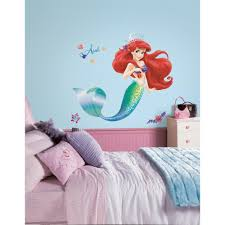 the little mermaid l and stick giant wall