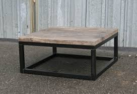 Combine 9 Industrial Furniture Reclaimed Wood Coffee Table Custom Tables  Square Thick