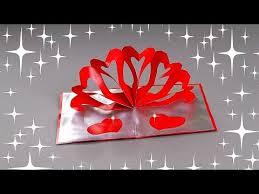 DIY  VALENTINEu0027S DAY POP UP CARD  TUTORIAL  GIFT IDEAS  YouTubeCard Making Ideas Youtube