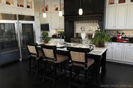 black and white kitchen ideas.  White Traditional Black And White Kitchen Inside And Ideas