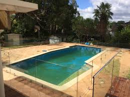 large frameless glass pool fence installed in the sydney suburb of castle hill