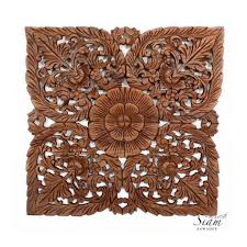 thai wood carving wall art