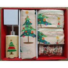 household dining table set christmas snowman knife: carnation home fashions o christmas tree holiday print shower curtain set