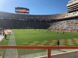 Neyland Stadium Section Z11 Row 2 Seat 11 Tennessee