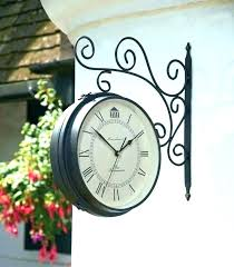 outdoor wall clock and thermometer garden outside clocks t terracotta garden thermometer