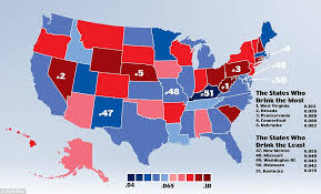And List Mail Online Daily Map States In Topping The Virginia America Drunkest With Nevada Reveals West
