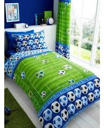 goal football single duvet cover and pillowcase set blue