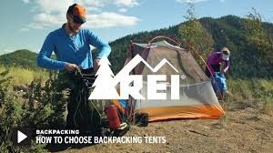 outdoor classes events outings rei com how to choose backpacking tents