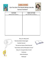 Class Visit Worksheet fiction vs. Non-fiction