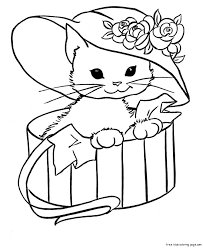 cute coloring pages to print cute kittens drawing at getdrawings