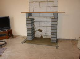 hearth laid blockwork pillars lintel
