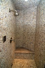 interesting bathroom and shower decoration with pebble tile shower floor magnificent bathroom and shower decoration