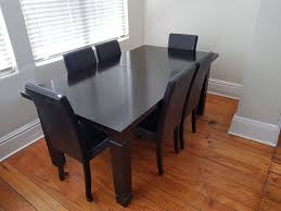 6 8 seater convertible dark wood dining room table