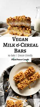 vegan milk and cereal bars a