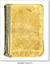 free art print of old book with blank shabby ul cover big