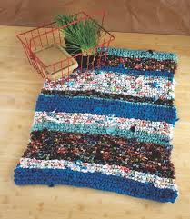 How To Knit A Rug Beginner Knits Rag Rug Pattern Love Upcycling