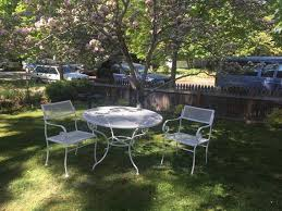 woodard vintage mesh patio set 2 chairs