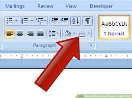 How To Make Lined Paper In Word 2007 4 Steps With Pictures