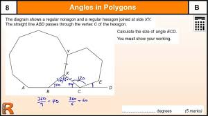 Exterior Angles Worksheet Multiplication Time Tables Gcse Maths ...