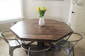 diy round wooden table for 110 shanty 2 chic diy expandable round dining table