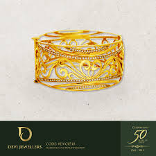 Gold Earrings Designs In Sri Lanka A Golden 22 Karat Bangle In Heritage Style And Designed With