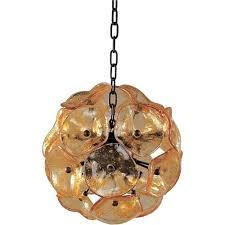 murano glass pendant lights bronze eight light mini with amber lamp shade