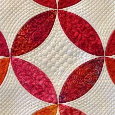 close up of quilting: Orange Peel quilt, designed by Ellen Granda ... & close up of quilting: Orange Peel quilt, designed by Ellen Granda and Carol  Swartz Adamdwight.com