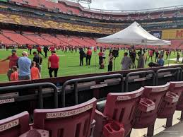 Fedex Field Seating Chart View Fedexfield Section 5 Rateyourseats Com