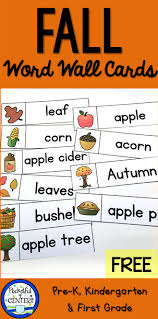 Apple Tree Pocket Chart Fall Word Wall Words Free Writing Center Kindergarten