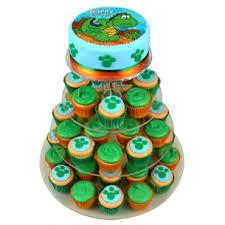 Dinosaur Birthday Cupcake Cake