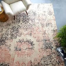 west elm area rugs round distressed mandala wool rug rosette