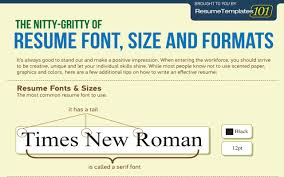 The Perfect Resume Font Size And Formats Infographic Cob