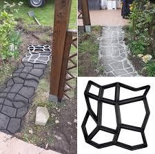 new driveway paving pavement mold patio concrete stepping stone walk maker diy