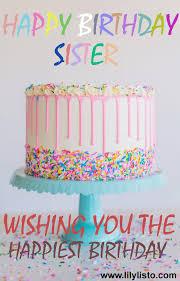 birthday cake for sister happy