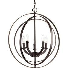 this review is from equinox 5 light antique bronze orb chandelier