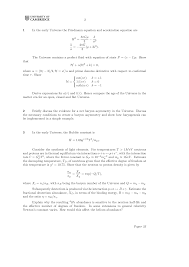 Synthesis Of Light Elements Cosmology Math Tripos Past Exam Paper Docsity