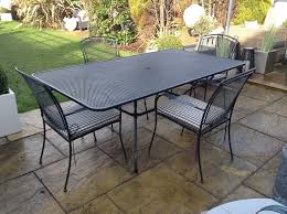 john lewis metal garden table and 4 chairs with parasol and base 350 ono